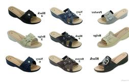 Women Sandals comfort slide wedge light weight Sizes 6 7 8 9