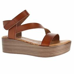 Blowfish Lover Scotch Dyecut Pu Womens Wedge Sandals Size 7.