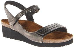 Naot Women's Madison Wedge Sandal, Metal, 41 EU/9.5-10 M US