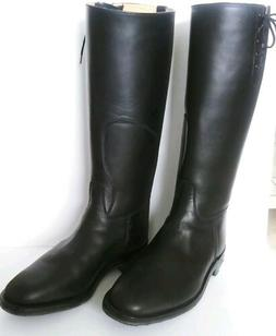 Men's Black Leather Knee High Boots Sz. 10.5