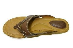 Fossil Men's women's Maddox wedge Thong sandal, Espresso, 9