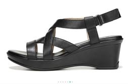 New $90 Women NATURALIZER Open Toe Cushioned Leather Sandals