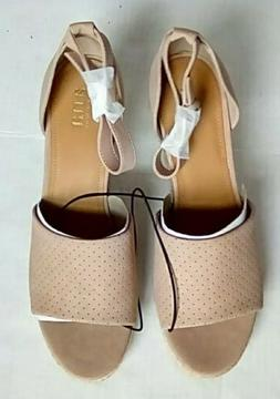 New A.N.A. Brenda Women's Taupe Wedge Sandals - Size 11M