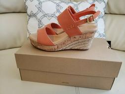 NEW AUTHENTIC UGG ELENA WOMEN WEDGE SANDALS FIRE OPAL SIZE 7