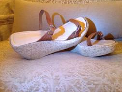 NEW -Beautiful Italian Wedge Sandals-10!