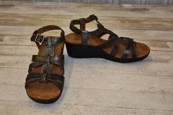 NEW Cobb Hill CCF02 Leighton Faux Leather Wedge Sandals, Wom