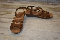 NEW Cobb Hill CCK12 Harla T-Strap  Wedge Sandals, Women's Ta