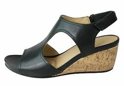 Naturalizer Cinda Womens Leather Comfortable Cushioned Wedge