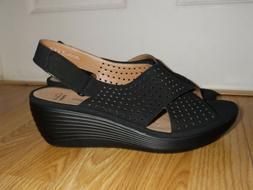New Clarks Collection Women's Reedly Variel Wedge Sandals Si