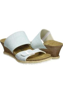 NEW Birkenstock Papillio Della Light Blue Wedge Sandals Wome