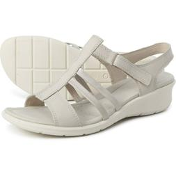 NEW ECCO Felicia Wedge Sandals, Moon Rock Leather, Size 42