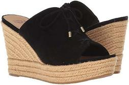 NEW UGG Australia Giorgia BLACK Suede WEDGE Slip-On SANDAL W