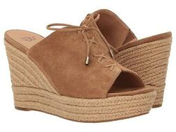 NEW UGG Australia Giorgia Suede CHESTNUT WEDGE Slip-On SANDA