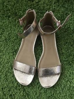 NEW Kenneth Cole Reaction Great Star Rose Gold Wedge Sandals