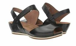 New In Box DANSKO Women's Vera Black Burnished Leather Sanda