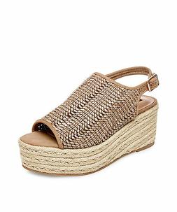 New In Box Womens Steve Madden COURAGE Cognac Multi Wedge Pl
