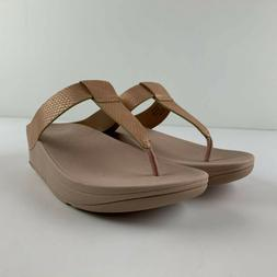NEW Fitflop Lina Shimmy Snake Women US 6 Nude Faux Leather S