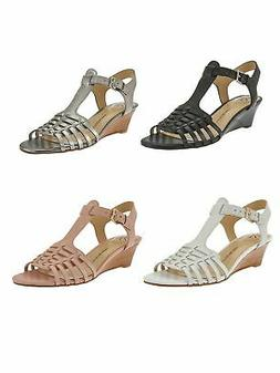 NEW! Isaac Mizrahi Live! Leather Fisherman Low Wedge Sandals