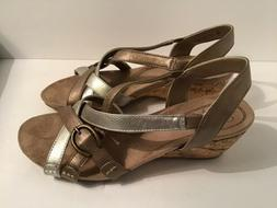 NEW LIFESTRIDE NATURAL TOO METALLIC SANDALS WOMENS SIZE 7 ST