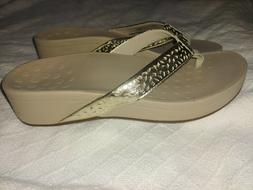 New Vionic Pacific Kehoe High Tide Wedge Flip Flop Sandals S