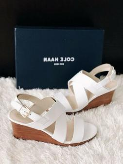 ✨New COLE HAAN Penelope Wedge Leather Sandals Womens Size