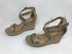 New w/ Defects! Women's Candie's 160089 Lyra Wedge Sandals -