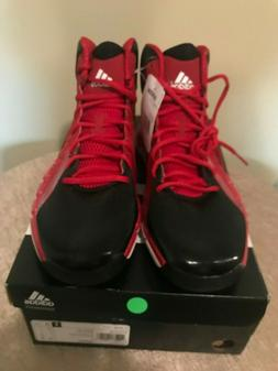 NEW W/TAG MEN ADIDAS RED/ BLACK BASKETBALL SHOES SZ 11.5 WOW