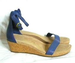 NEW UGG Wedge Sandals Blue Platform Shoes NWOB 8
