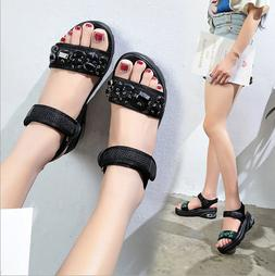 New wedge with rhinestone ladies sandals air cushion shoes w