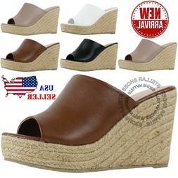 NEW Women Sandals Summer Wedge Platform Heel Espadrille Sand