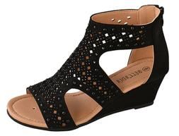 BELLADIA FOREVER New women  gladiator wedge. platform heel z