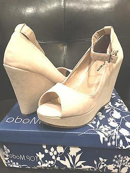 "New Women ""Top Moda Visit 30"" Beige Fashion Platform Wedge S"