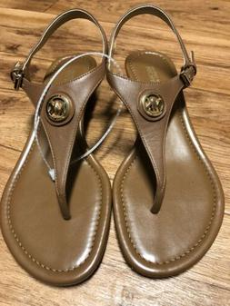 New Michael Kors Women's Size 7 Leather Wedge Sandals Shoe