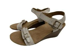 NEW Vionic Womens Wedge Heel Sandals Shoes Sz 9 Laurie White