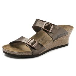 NIB Birkenstock Papillio Dorothy Wedge Sandals in Toffee 100