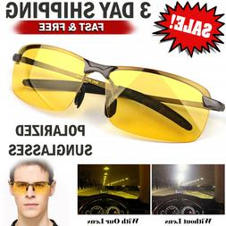 HD Night Vision Polarized Glasses Driving Aviator Sunglasses