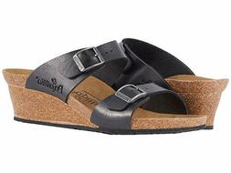 Birkenstock Papillo Womens Dorothy Licorice Wedge Sandals Si