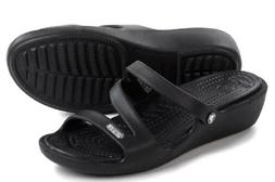 Crocs Patricia Wedge Sandal Black Women 6, 7, 8, 9, 10  Wate