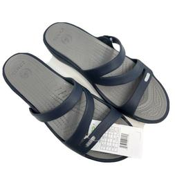 Crocs Patricia Women's Size 10 Wedge Sandals Navy Smoke NEW