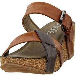 peco sandals brown womens
