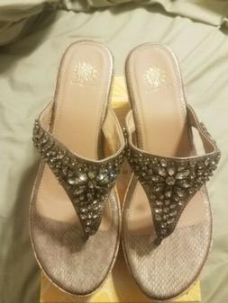 Yellow Box POLLY Bronze Wedge Sandals Size 11