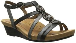 Rockport Cobb Hill Women's Hannah CH Sandal,  Black, 6 M US