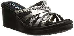 Skechers Women's Rumblers Wild Child Wedge Sandals  - 7.0 M