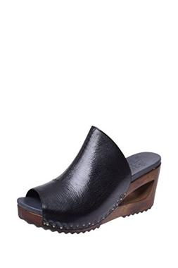 Dansko Women's Sage Black Tumbled Calf Sandal