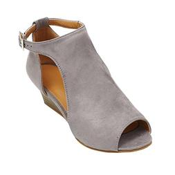 Sandals for Womens, FORUU Platform Wedge Ankle Strap Peep To