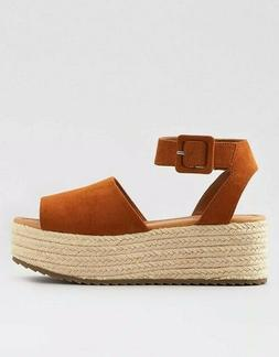 *** Sandals For Woman Model Covered Flatform Wedge Brown Col