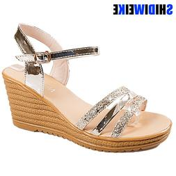Sexy Lady Summer Lady Fashion High Heel <font><b>Gold</b></f