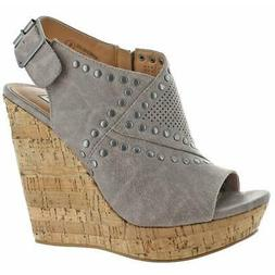 Not Rated Sinni Women's Peep Toe Cork Wedge Sandals