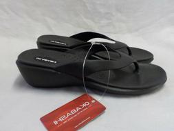 Okabashi Splash Wedge Sandals NWT Rubber Arch Support Non Sk