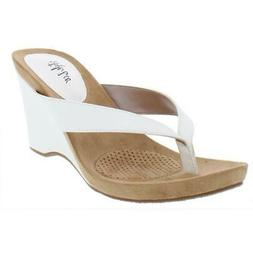Style & Co. Womens Chicklet Thong Slides Wedge Sandals Shoes